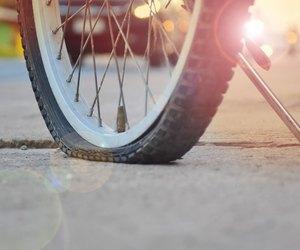 pneu de vélo crevé